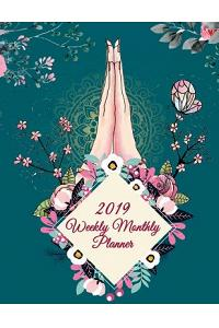 2019 Weekly Monthly Planner: Mindfulness Design, 8.5