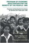 Program of Economic Reactivation for the Benefit of the People, 1980
