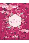 2021 Yearly Journal: Pink Color, Yearly Calendar Book 2021, Weekly/Monthly/Yearly Calendar Journal, Large 8.5
