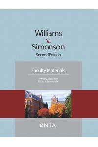 Williams V. Simonson: Faculty Materials