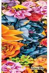 Address Book: 5 X 8, Blank Address Book, Contacts, Addresses, Durable Cover, 100 Pages, Floral (16)