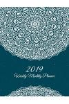 2019 Weekly Monthly Planner: Blue Mandala Book, 8.5