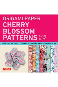 Origami Paper Cherry Blossom Prints Large-8 1/4