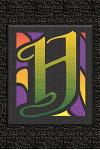 H: Monogram Letter Initial Internet Password Logbook: Keep track of usernames, passwords, web addresses in one easy and o