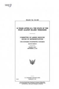 15 Years After 9/11: The State of the Fight Against Islamic Terrorism: Committee on Armed Services