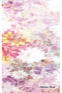 Address Book: 5 X 8, Blank Address Book, Contacts, Addresses, Durable Cover, 100 Pages, Floral (2)