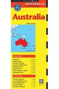 Australia Travel Map Fifth Edition (Periplus Travel Maps)
