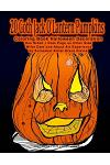 20 Goth Jack O'Lantern Pumpkins Coloring Book Halloween Decoration One Sided + Note Page on Other Side Write Date and about Art Experience by Surreali