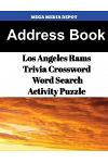 Address Book Los Angeles Rams Trivia Crossword & Wordsearch Activity Puzzle