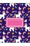 Composition Notebook: Pink & Purple Unicorn Composition Book for School, Wide Ruled: 110 Pages, 8.5x11 Lined Writing Paper for School Studen