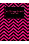 Address Book with Tabs: Pink Book, Address Book with Birthdays and Anniversaries, Tabs Book Large Print 8.5