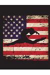 American Gymnastics Champion: Graph Paper for a Gymnast USA Flag 8.5x11