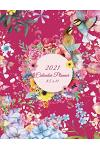 2021 Calendar Planner 8.5 X 11: Pink Floral Garden, Daily Calendar Book 2021, Weekly/Monthly/Yearly Calendar Journal, Large 8.5