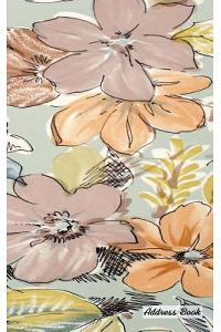 Address Book: 5 X 8, Blank Address Book, Contacts, Addresses, Durable Cover, 100 Pages, Floral (6)