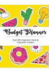 Budget Planner: Bright Yellow with Cactus Large Budget Planner, (8.5x11 Inches): Expense Tracker for 24 Months