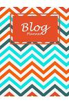 Blog Planner: Colorful Book, Daily Blogger Posts, Calendar Social Media Marketing, Large Size 8.5