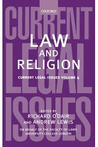 Law and Religion: Current Legal Issues Volume 4