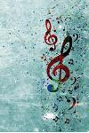 A Splash of Music Notebook: 150 page Notebook Journal Diary