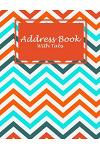 Address Book with Tabs: Beauty Book, Address Book with Birthdays and Anniversaries, Tabs Book Large Print 8.5