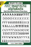 Ready-To-Use Art Nouveau Alphabets: Eight Decorative Faces in Three Sizes
