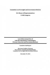 Law Enforcement Use of Cell-Site Simulation Technologies: Privacy Concerns and Recommendations