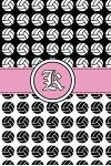 K: Volleyball Notebook Monogram Initial K Personalized Volleyball Gift for Players Coach Students Teachers (Volleyball Lo
