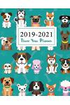 2019-2021 Three Year Planner: Cute Animal Dogs Cover Monthly Planner Calendar Academic January 2019 to December 2021 Organizer Agenda for the Next T