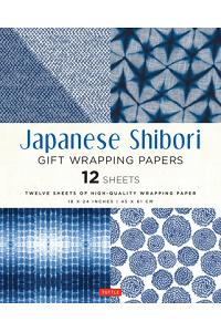 Japanese Shibori Gift Wrapping Papers: 12 Sheets of High-Quality 18 X 24