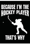 Because I'm The Hockey Player That's Why: Hockey Notebook & Personal Stats Tracker 100 Games