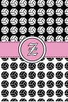 Z: Volleyball Notebook Monogram Initial Z Personalized Volleyball Gift for Players Coach Students Teachers (Volleyball Lo