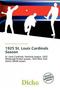 1925 St. Louis Cardinals Season