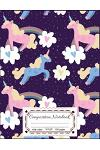 Composition Notebooks: Pink Unicorn & Rainbow: Composition Notebooks Wide Ruled 8.5 X 11, 110 Pages Book for Girls, Kids, School, Students an