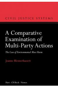 A Comparative Examination of Multi-Party Actions: The Case of Environmental Mass Harm