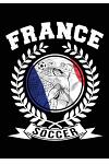 France Soccer: Daily Journal French Emblem World Soccer Games Souvenir Blank Lined Notebook for Writing