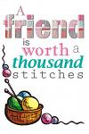 A Friend Is Worth a Thousand Stitches: Best Friendship Diary 6 X 9 Planner for Keeping Lists, Sketching, Patterns and Writing Ideas for Crafty Women,