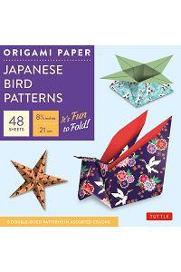 Origami Paper - Japanese Bird Patterns - 8 1/4