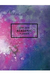 2018-2019 Academic Planner: Watercolor Stars + Constellations - Aug 2018 - July 2019 Weekly View -To Do Lists, Goal-Setting, Class Schedules + Mor