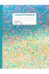 Composition College Ruled: Suerat Style Watercolor Beach View Composition Notebook