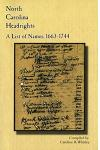 North Carolina Headrights: A List of Names, 1663-1744