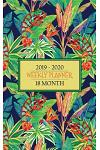 18 Month Weekly Planner 2019 - 2020: Tropical Chameleons Will Keep Your Life Colorful While You Stay Organized for a Full 18 Months January 2019-June