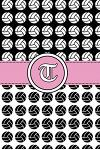 T: Volleyball Notebook Monogram Initial T Personalized Volleyball Gift for Players Coach Students Teachers (Volleyball Lo