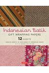 Indonesian Batik Gift Wrapping Papers: 12 Sheets of High-Quality 18 X 24 Inch Wrapping Paper