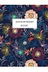 Appointment Book: Floral Design Cover Appointments Notebook for Salons Hairdressers Spa Planner Hourly Undated Daily with Time 15 Minute