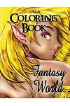 Adult Coloring Book - Fantasy World