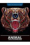 Animals Adult Coloring Book: Patterns of Bear, Parrot, Squirrel, Lion, Tiger, Raccoon, Monkey, Cats, Giraffe, Panda and more