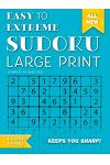 Easy to Extreme Sudoku Large Print (Blue): Keeps You Sharp