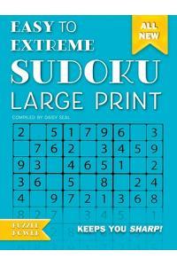 Easy to Extreme Sudoku Large Print (Blue): Keeps You Sharp