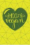 100% Vegan: Vegan Journal - 120-Page Blank Page Vegan Notebook - 6 X 9 Perfect Bound Softcover